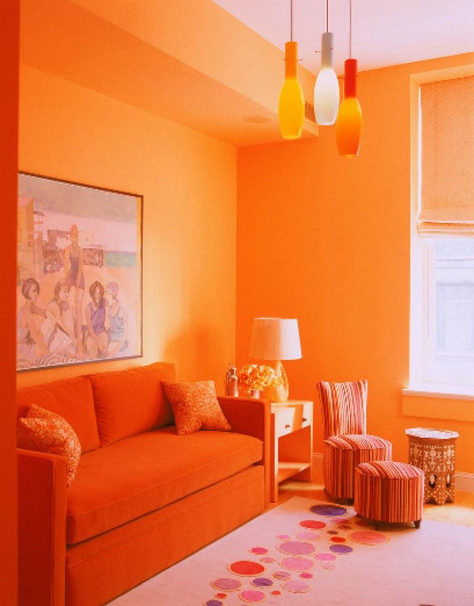 С какими цветами сочетается персиковый цвет в интерьере фото